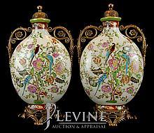 PAIR Asian Porcelain Ewer