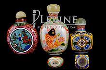 (3) Pcs. Chinese Snuff Bottle Lot