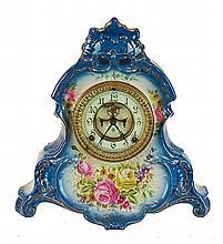 Royal Bonn La Normandia Porcelain Shelf Clock