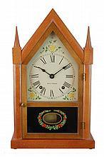 Reverse Painted Glass Seth Thomas Steeple Clock