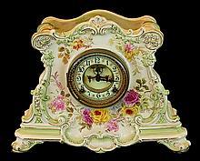 Royal Bonn Porcelain Ansonia Clock Open Escapement