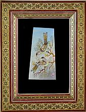 Persian Painting on Ivory, Birds