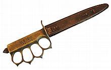 WW I LF&C; 1918 Trench Knuckles Knife & Scabbard