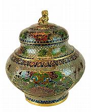 Chinese Reticulated Plique-à-Jour Lidded Urn