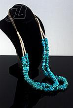 Navajo Two-Strand Turquoise & Heishi Necklace