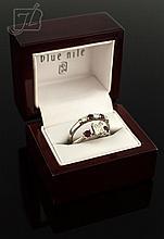 18K White Gold & Platinum Diamond & Ruby Ring Set