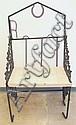 Home Made Wrought Iron & Rebar Bench