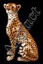 Italian Porcelain Cheetah Figure