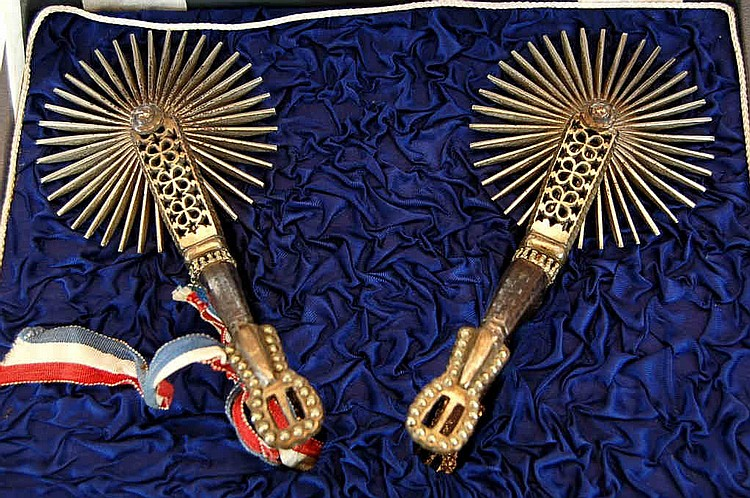 Antique Chilean Presentation Gaucho Spurs