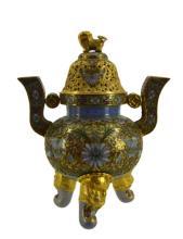 Asian Cloisonne Incense Burner