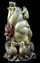 Asian Frog & Duck Snuff Bottle