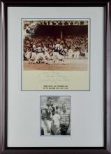 Signed Johnny Unitas Photograph