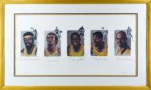 Signed Lakers Legends Framed Print