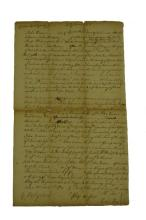 Letter From Ricus (Richard) Roe to John Owens 1750