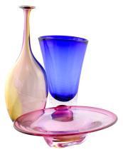 3 Pc. Art Glass Lot w/ Kosta Boda & Tabiaiski