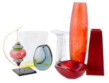 8 Pc Figural Art Glass Lot W/ Kosta Boda & Nambé