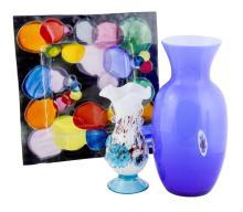 3 Pc Art Glass Lot w/ Murano