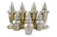 8 Pc. Sterling Silver Shaker Lot w/ Crown