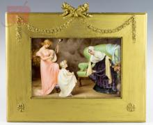 19th C. Signed KPM Painted Porcelain Plaque