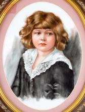 KPM Style Porcelain Plaque Portrait Painting