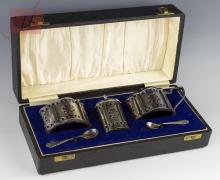 5 Pc . A.C. & Sons Sterling Silver Condiment Set