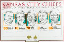 Autographed Ltd. Ed. Kansas City Chief Lithograph