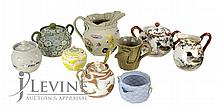 Asian Ceramic Pottery: Banko, Sugar, Creamer Lot
