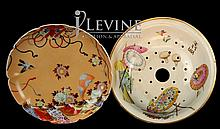 PAIR Asian Porcelain Pieces: Bowl & Plate