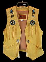 Arturo Echo Mountain Beaded Buckskin Vest