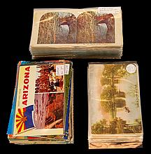 150+ Antique Stereo-Viewer & Post Card Lot