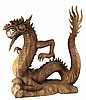 Wood Carved Asian Dragon