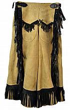 Vintage Cowgirl Split Riding Skirt
