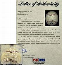Barry Bonds Autographed Baseball PSA / DNA