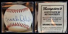 Brooks Robinson Autographed Baseball w/ COA