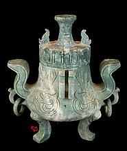 Carved Asian Soapstone Censer