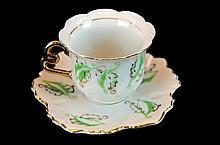 6 Pcs. Occupied Japan Porcelain Cups & Saucer Set