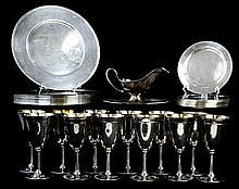 Wilcox International Silver Plate Plates, Stemware