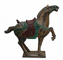 Antique Chinese Carved Wood Horse