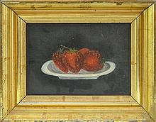 Strawberry Still Life Oil Painting On Canvas