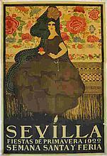 1922 Sevilla Fiestas De Primavera Poster