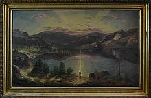 1898 Signed Continental Oil Painting On Canvas