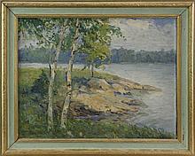 Alexander Friedman (C.1873 - 1960) Birch Trees