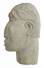 Frank McGuire (1938 - ) Carved Stone Bust