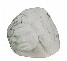 Frank McGuire (1938 - ) Carved Marble Bust