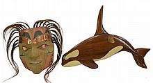 Alaskan Art Orca & Squamish First Nations Mask
