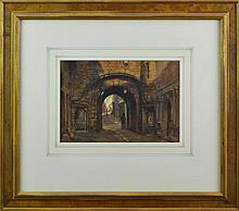Attrib. Frank Moss Bennett (1874-1953) Watercolor