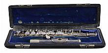 Silver Haynes Co. Of Boston Piccolo Db W/ Case