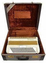 Vintage Hohner Accordion 200L Pearl w/ Case