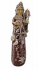 Peruvian Female Pottery Floor Sculpture