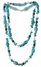 2 Pc. Native American Turquoise Necklace Lot